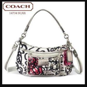 COACH POPPY Limited Edition Graffiti Shoulder Bag